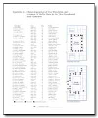 Appendix a : Chronological List of Vice ... by