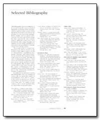 Selected Bibliography by