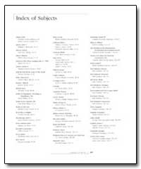 Index of Subjects by