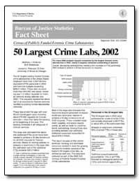 Bureau of Justice Statistics Fast Sheet by Peterson, Joseph L.