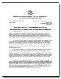 New Hhs Report Offers Mixed Results on A... by