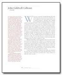 John Caldwell Calhoun by Conrad, Arthur E. Schmalz