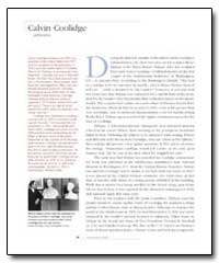 Calvin Coolidge by Dykaar, Moses A. Wainer