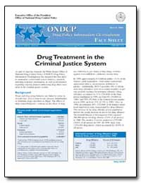 Drug Treatment in the Criminal Justice S... by Walters, John P.
