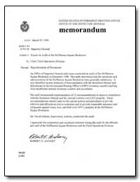 Report on Audit of the Mcpherson Square ... by Andary, Robert G.
