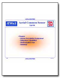Unclassified Aerial Common Sensor Agenda by