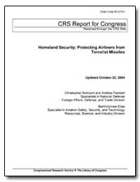 Homeland Security : Protecting Airliners... by