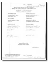 Regulatory Act Analysis Statement & Sumi... by