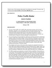 Police Traffic Radar Issue Paper U.S. De... by