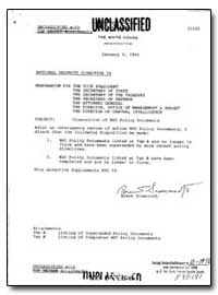 Disposition of Nsc Policy Documents by Scowcroft, Brent