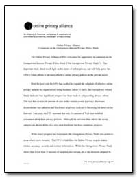 Online Privacy Alliance Comments on the ... by