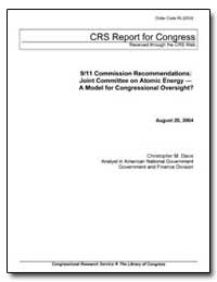 9/11 Commission Recommendations : Joint ... by Davis, Christopher M.
