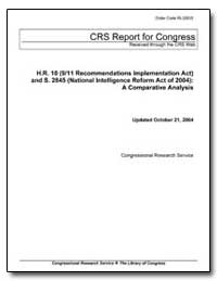 H. R. 10 (9/11 Recommendations Implement... by