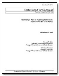Germany's Role in Fighting Terrorism : I... by Miko, Francis T.