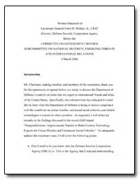 Committee on Government Reform Subcommit... by Walters, Tome H.