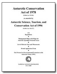 Antarctic Conservation Act of 1978 (Publ... by