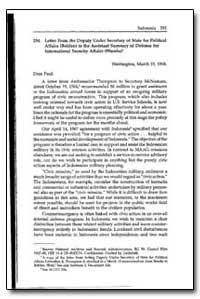 Letter from the Deputy under Secretary o... by Bohlen, Charles
