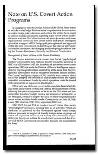 Note on U.S. Covert Action Programs by