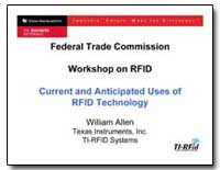 Federal Trade Commission Workshop on Rfi... by Allen, William