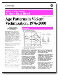 Age Patterns in Violent Victimization, 1... by Klaus, Patsy A.