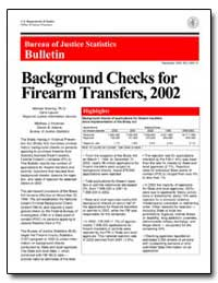 Background Checks for Firearm Transfers,... by Bowling, Michael