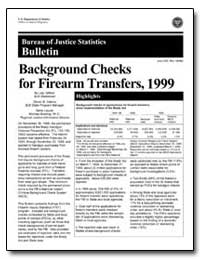 Background Checks for Firearm Transfers,... by Lea. Gifford