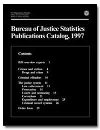 Bureau of Justice Statistics Publication... by Chaiken, Jan M.