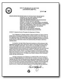 Memorandum for Secretaries of the Milita... by