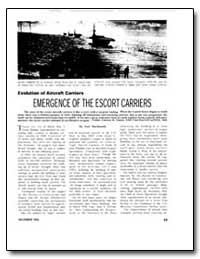 Emergence of the Escort Carriers by Macdonald, Scot