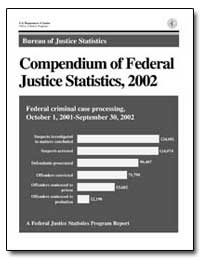 Compendium of Federal Justice Statistics... by Greenfeld, Lawrence A.