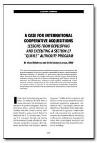 A Case for International Cooperative Acq... by Childress, Alan, Dr.