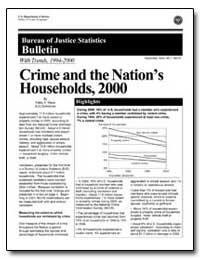 Crime and the Nation's Households, 2000 by Klaus, Patsy A.