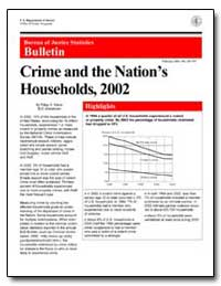 Crime and the Nation's Households, 2002 by Klaus, Patsy A.
