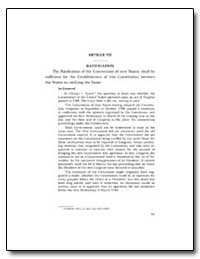 Article Vii Ratification by