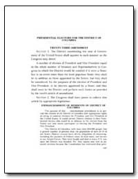 Presidential Electors for the District o... by