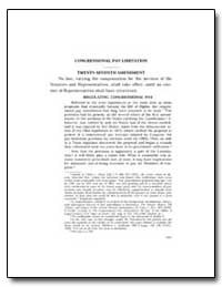 Congressional Pay Limitation Twenty-Seve... by