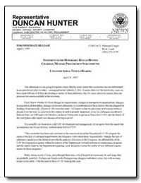 Statement of the Honorable Duncan Hunter... by Cragin, Maureen