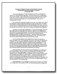 Testimony for Deputy Secretary of State ... by