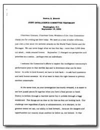 Samuel R. Berger Joint Intelligence Comm... by Berger, Samuel R.