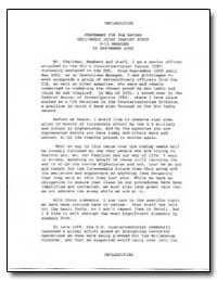 Unclassified Statement for the Record Ss... by