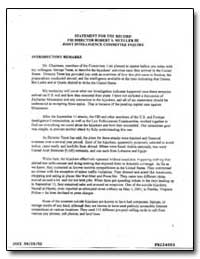 Statement for the Record Fbi Director Ro... by