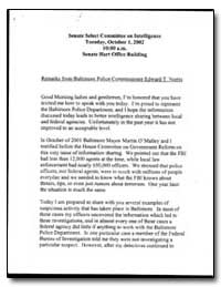 Remarks from Baltimore Police Commission... by Norris, Edward T.
