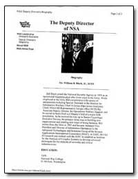 The Deputy Director of Nsa by Black, William B.