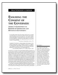 Ensuring the Consent of the Governed by Cornyn, John