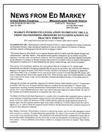 Markey Introduces Legislation to Prevent... by Bayer, Mark