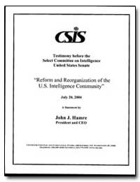 Testimony before the Select Committee on... by Hamre, John J.