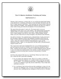 Three 9/11 Hijackers: Identification, Wa... by Al Hazmi, Nawaf