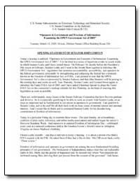 U.S. Senate Subcommittee on Terrorism, T... by