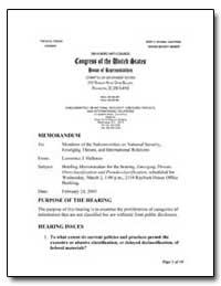 Briefing Memorandum for the Hearing, Eme... by Halloran, Lawrence J.