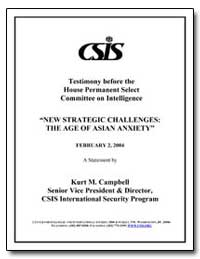 Testimony before the House Permanent Sel... by Campbell, Kurt M.